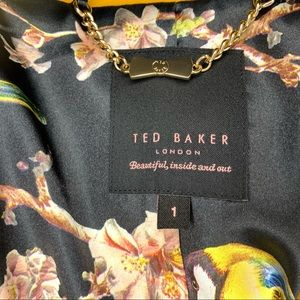 Ted Baker London Jackets & Coats - Ted Baker Tunda Flared Skirt Coat Mustard